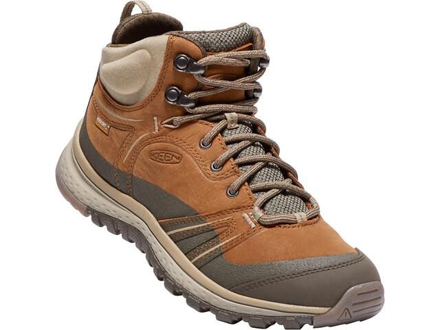 Keen Terradora Leather WP - Calzado Mujer - gris/marrón